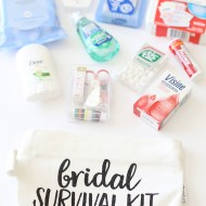 Craft: Wedding Day Bridal Survival Kit with Cricut Glitter Vinyl