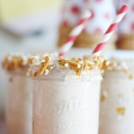 Recipe: Salted Caramel Pretzel Shake & Back to School Ice Cream Party