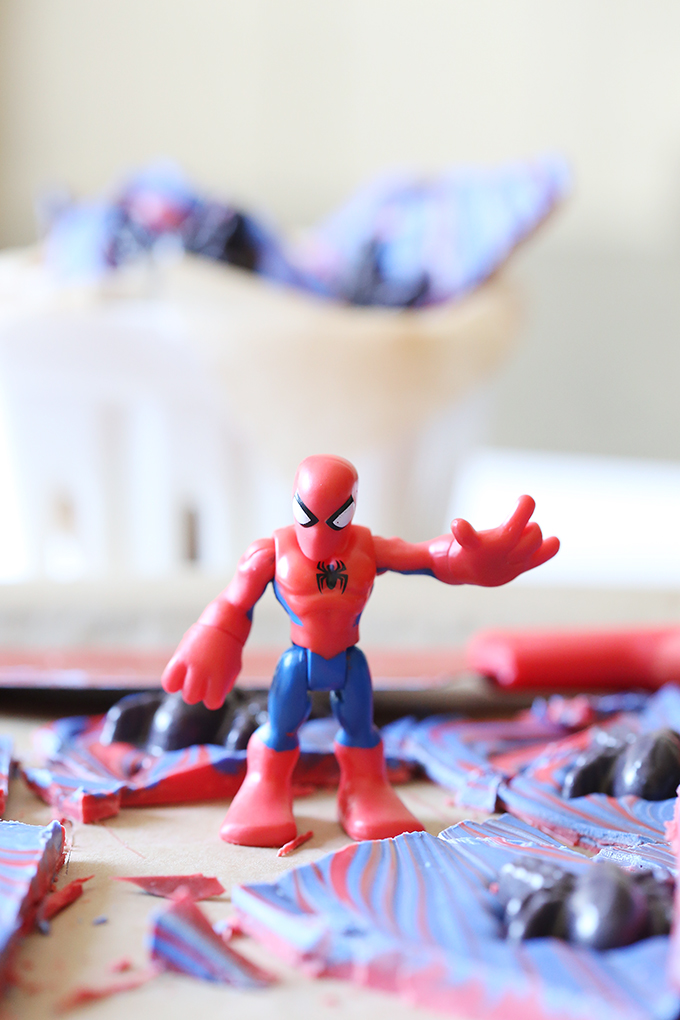 Spider Man Chocolate Bark Recipe 10 copy