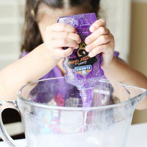 2 Ingredient Magical Unicorn Glitter Slime Recipe for Kids
