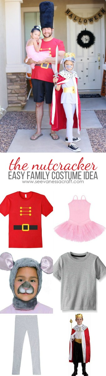 Easy Last Minute Nutcracker Family Halloween Costume Idea