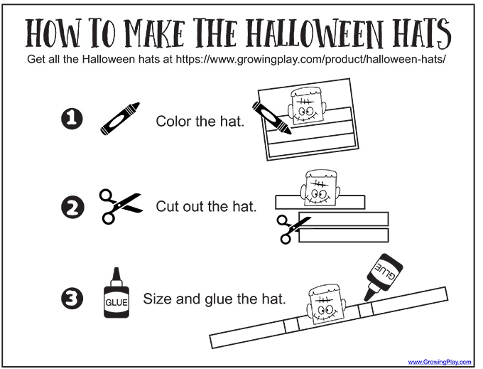Halloween Coloring Hats Freebie.cdr