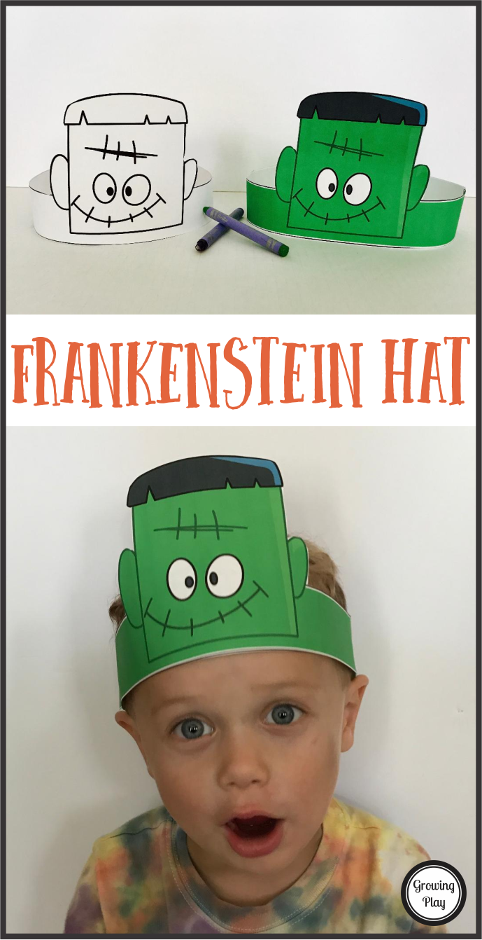 Halloween Frankenstein Hat Freebie from Growing Play for See Vanessa Craft
