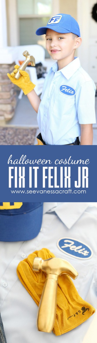 Fix It Felix Jr Disney Halloween Costume copy