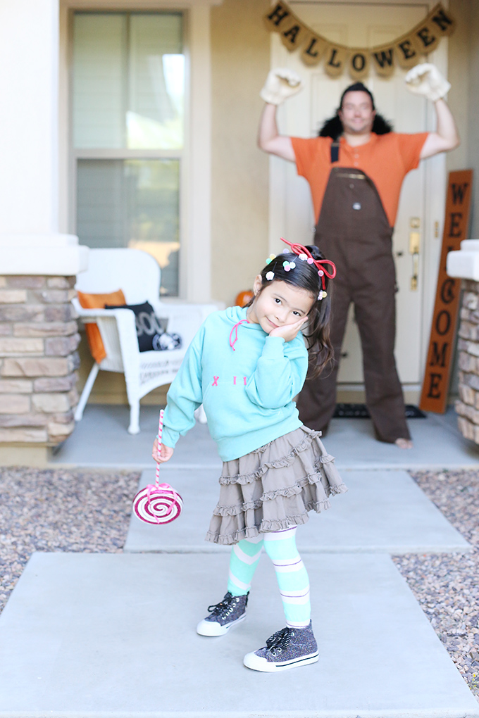 DIY Vanellope Halloween Costume from Disney's Wreck-It Ralph