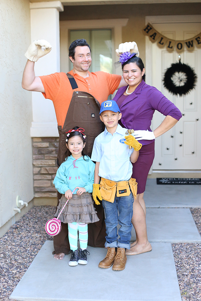 halloween diy wreck it ralph family costume see vanessa craft. Black Bedroom Furniture Sets. Home Design Ideas