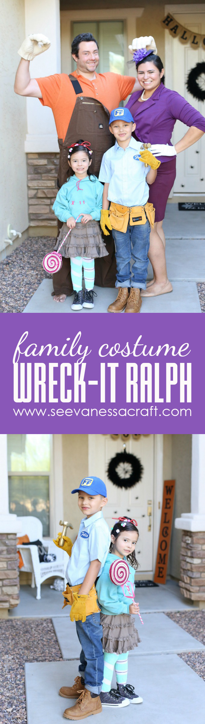 Wreck It Ralph Family Halloween DIY Costumes copy