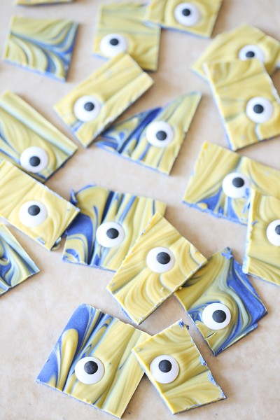 Minions Chocolate Bark Recipe Party Idea