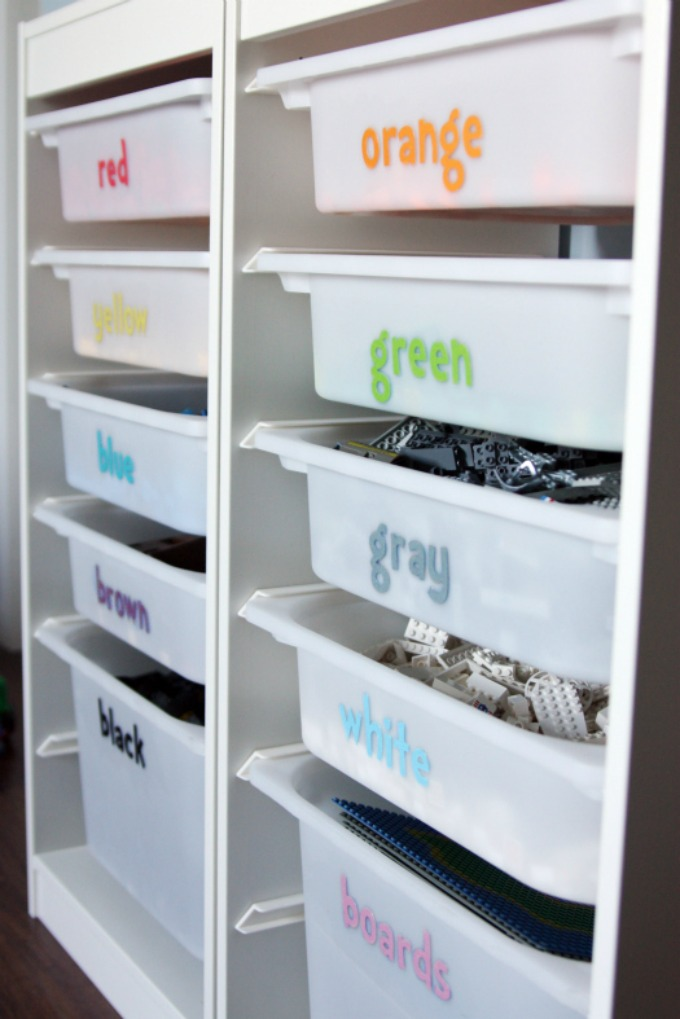 Creating Organized Lego Storage