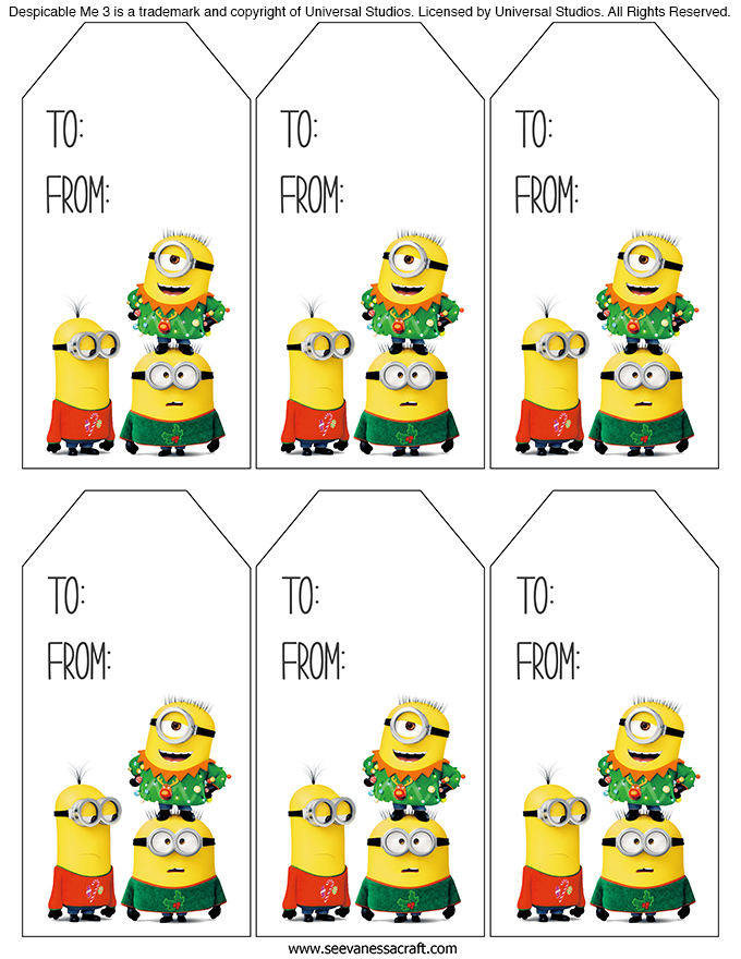 Minions Holiday Tags copy