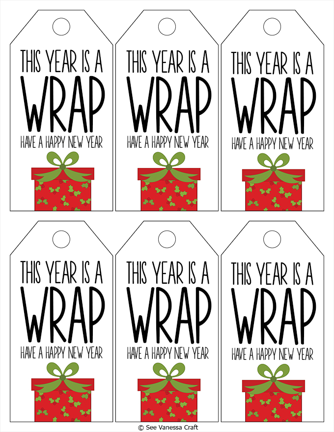 Wrapping Paper Gift Tags