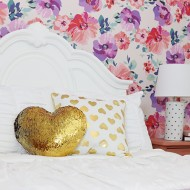 DIY: Pink and Purple Floral Big Girl Room Makeover