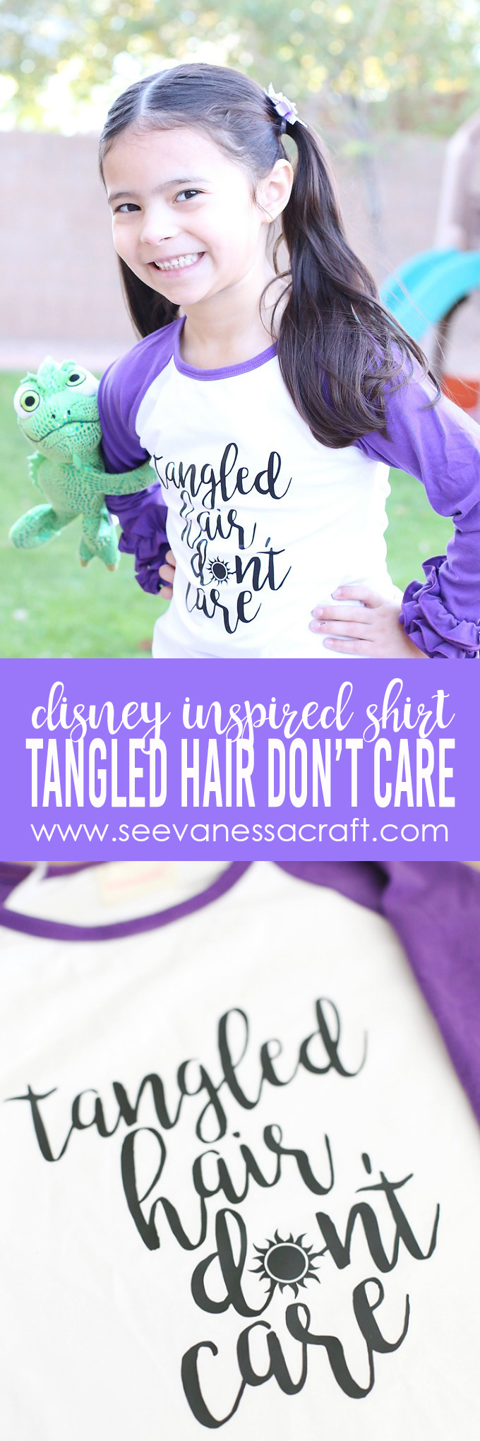 Tangled Hair Dont Care Disney Inspired Shirt copy