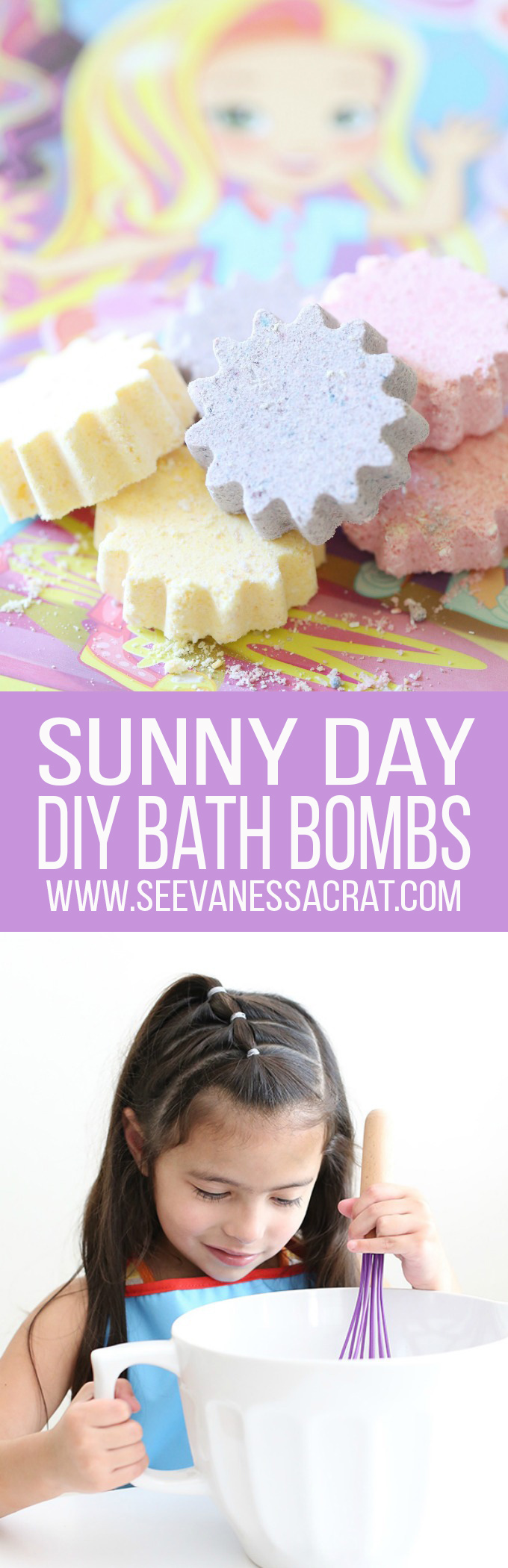 DIY Homemade Sunny Day Bath Bomb Recipe for Kids