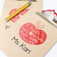 Craft: DIY Vinyl Clipboard Teacher Gift Idea