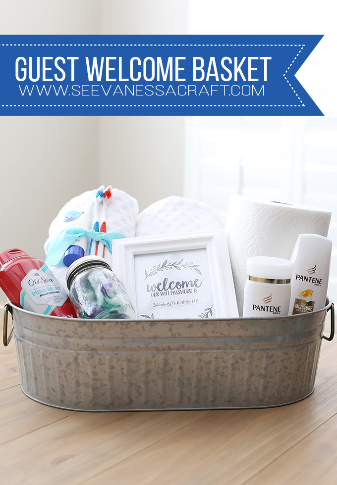 Guest Welcome Basket and Free Wifi Password Printable