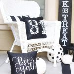 Halloween: Black and White Porch Decor with Cricut Maker