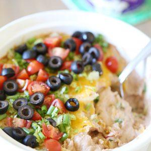 Recipe: Easy Hot Bean Taco Dip