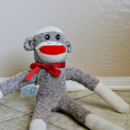 {Logan} Sock Monkey Birthday