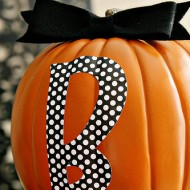 {DIY Tutorial} BOO Stacked Pumpkins
