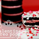 (diy tutorial) valentine's day oreo pops