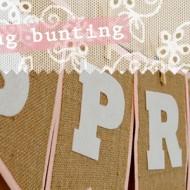 (diy tutorial) spring burlap & felt bunting