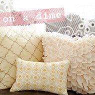 (crafting on a dime) mustard accent pillow
