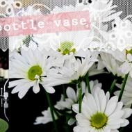 (diy tutorial & giveaway) upcycled izze bottle flower vase