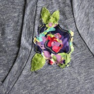 Craft: Fabric Flower Embellished Shirt