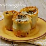 (recipe) spinach lasagna muffins