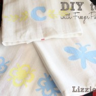 (crafting on a dime) diy towels with freezer paper stencils