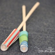 (crafting on a dime) over the rainbow paper yo-yos