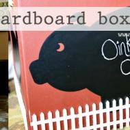 (diy tutorial) cardboard box barn