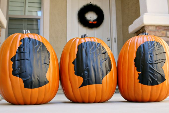 Halloween Silhouette Pumpkins Our Top 28 No Carve Pumpkin Ideas
