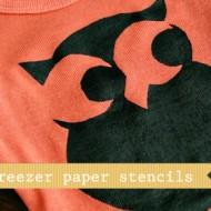 (diy tutorial) hand dyed & freezer paper stencil onesies
