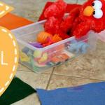 (tot school tuesday) color sorting wheel activity