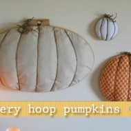 (20 crafty days of halloween) 3-D embroidery hoop pumpkins