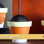 (20 crafty days of halloween) candy corn painted flower pots