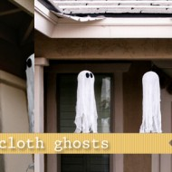 diy cheesecloth ghosts