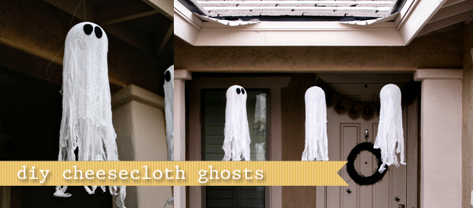 Diy Tutorial Cheesecloth Ghosts See Vanessa Craft