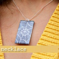 (20 crafty days of halloween) spooky necklace