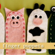 (tot school tuesday) farm animal finger puppets
