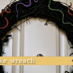 (20 crafty days of halloween) glitter snake wreath