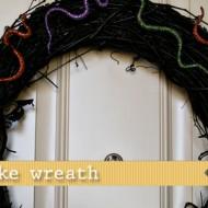 (20 crafty days of halloween) glitter snake wreath