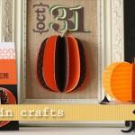 (20 crafty days of halloween) pumpkin paper crafts