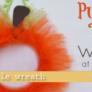 (20 crafty days of halloween) pumpkin tulle wreath