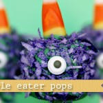 (20 crafty days of halloween) purple people eater pop