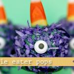 (20 crafty days of halloween) purple people eater pop