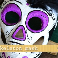 (20 crafty days of halloween) skeleton mask