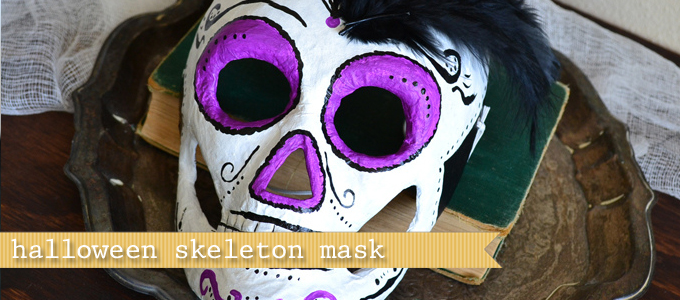 skull mask for halloween diy pattern with just paper and glue